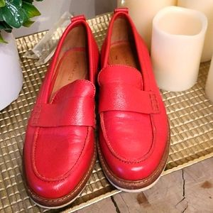Coach Red Loafers